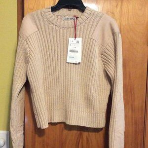 Zara SRPLS Field Sweater Large NWT